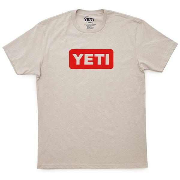 Yeti Logo Badge Canyon Red Short Sleeve Tee Shirt - Bulluna.com