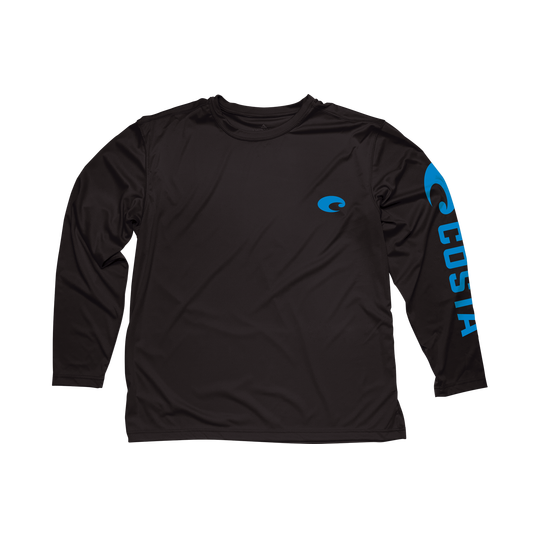 Costa Del Mar Technical Costa Core Black Long Sleeve Shirt - Bulluna.com