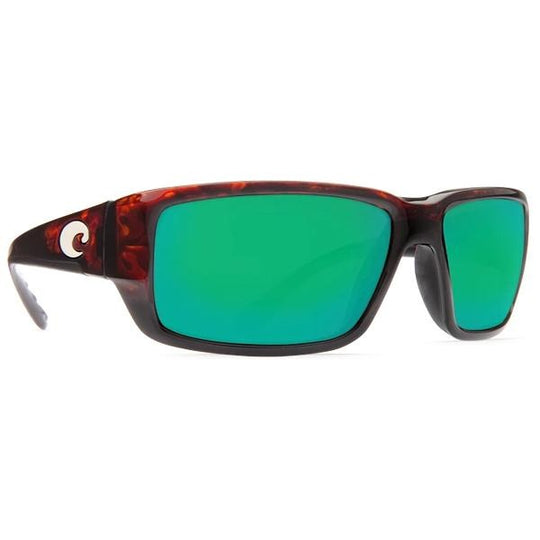 Costa Del Mar Fantail Sunglasses - Green Glass - Tortoise Frame