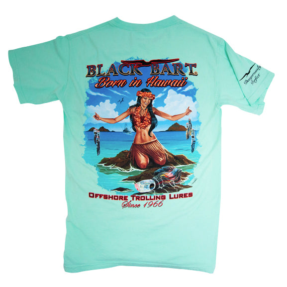 Black Bart Hawaiian Girl Short Sleeve T-Shirt