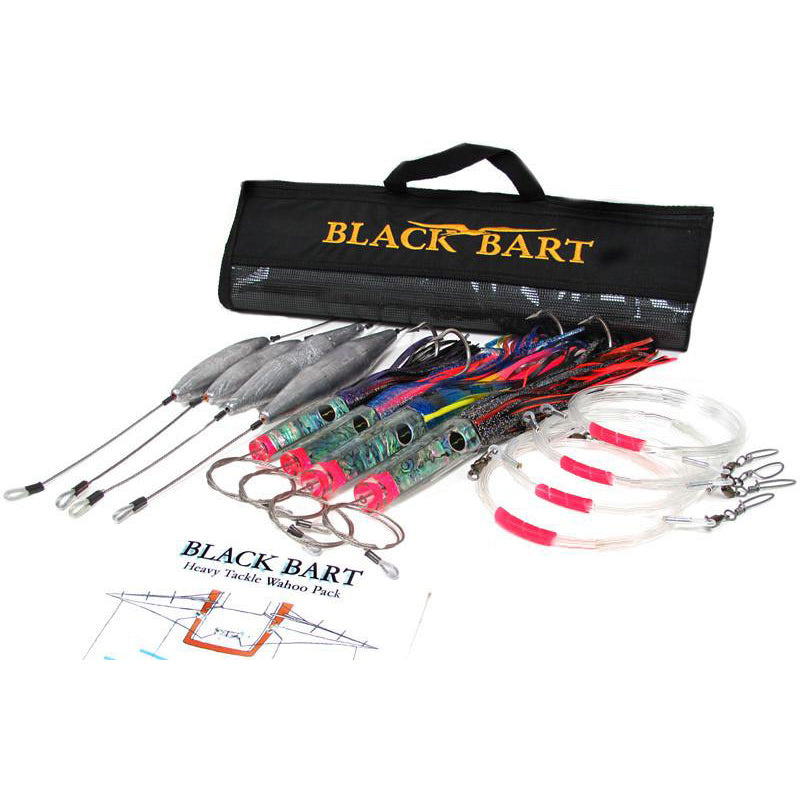 Black Bart Wahoo Rigged Heavy Lure Pack 50-80 Pound Tackle