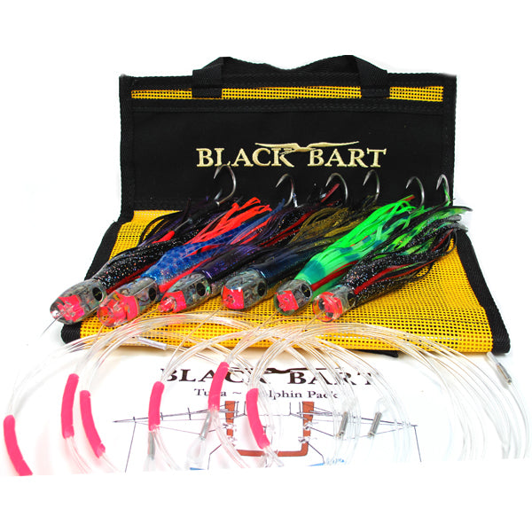 Black Bart Tuna Dolphin Rigged Lure Pack 20-50 Pound Tackle