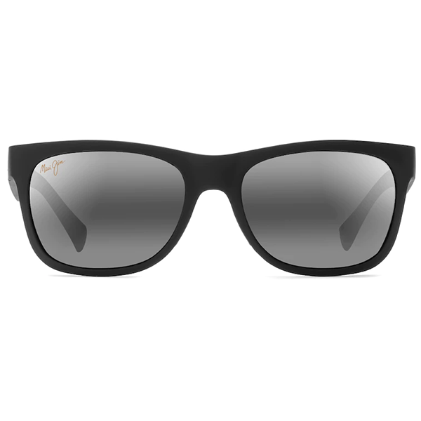 Maui Jim Kahi Matte Black - Neutral Grey Sunglasses - Bulluna.com