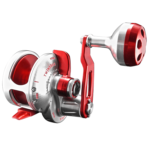 Accurate BV-500 Boss Valiant Conventional Reel - Red/Grey - Bulluna.com