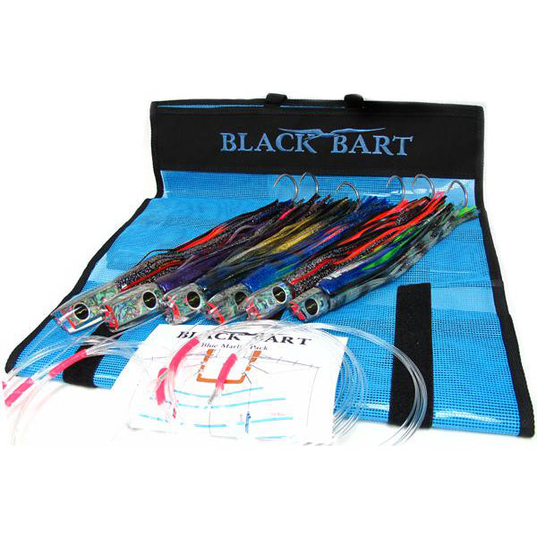 Black Bart Blue Marlin Rigged Lure Pack 50-80 Pound Tackle