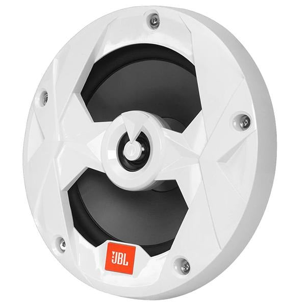 JBL MS65LW 6.5 Inch 225W Coaxial Marine Speaker RGB Illuminated White Grill - Pair - Club Series (HN) - Bulluna.com