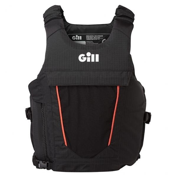 Gill Race Syncro PFD Black/Orange Buoyancy Aid - Bulluna.com