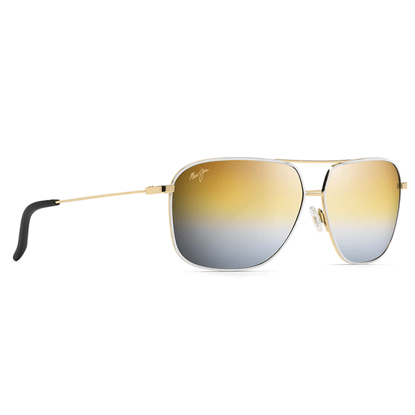 Maui Jim Kami Gold with White - Gold To Silver Sunglasses - Bulluna.com