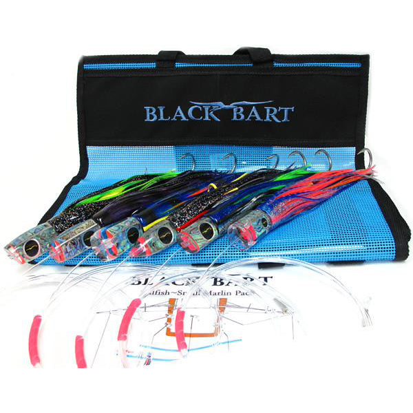 Black Bart Small Billfish Lure Pack Rigged 30-50 Pound Tackle