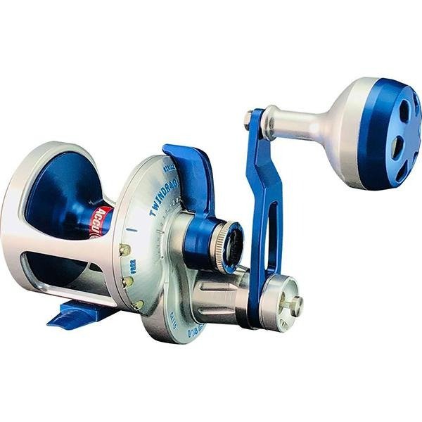 Accurate BV2-500 Boss Valiant Two Speed Conventional Reel - Silver/Blue - Bulluna.com