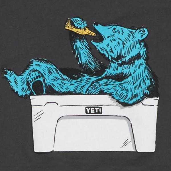 Yeti Thirsty Bear Charcoal Long Sleeve Tee shirt