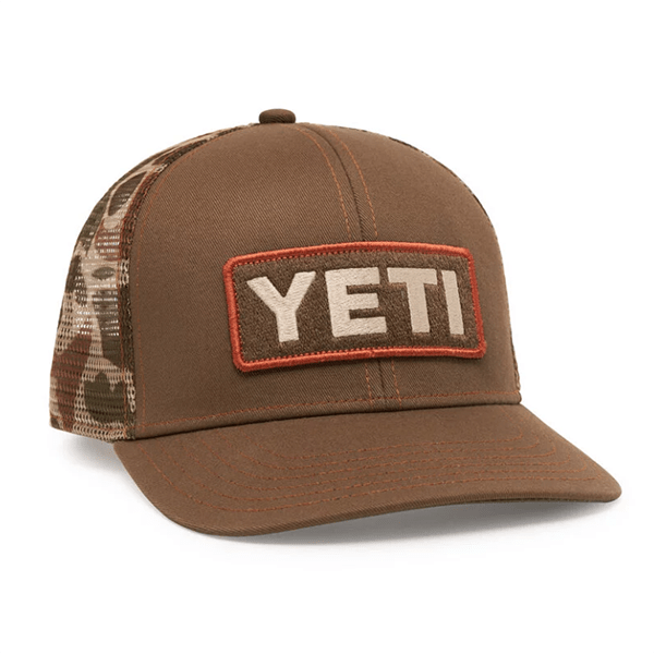 Yeti Camo Mesh Trucket Hat - Brown