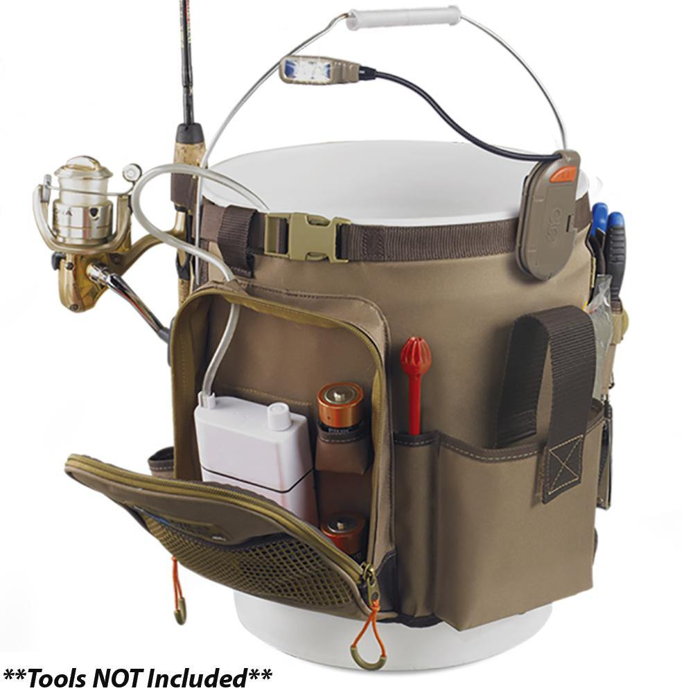 Wild River RIGGER 5 Gallon Bucket Organizer w/Light, Plier Holder & Retractable Lanyard [WL3506] - Bulluna.com