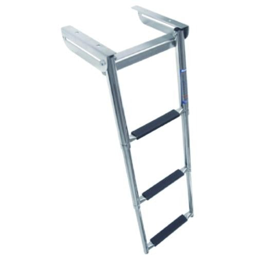 Windline Stainless Steel Under Platform Telescoping Slide Mount Ladder - 3 Step - Bulluna.com