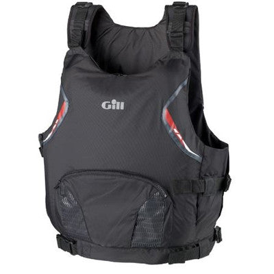 Gill U.S. Coast Guard Approved Side Zip Buoyancy Aid - Black/Red