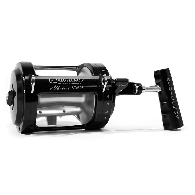 Alutecnos Albacore 50 Wide Two Speed Reel - Custom Color Black/Silver