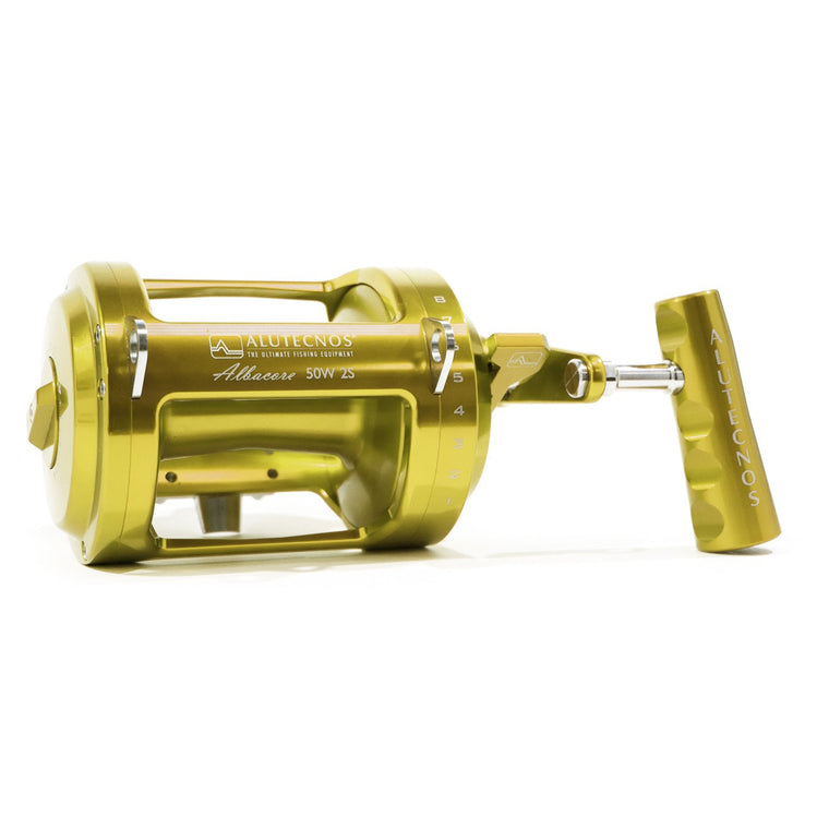 Alutecnos Albacore 50 Wide Two Speed Reel - Gold