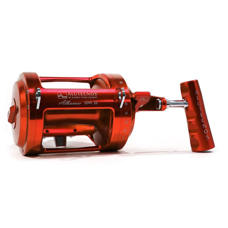 Alutecnos Albacore 50 Wide Two Speed Reel - Red