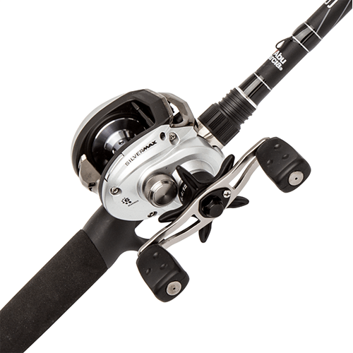 Abu Garcia Silver Max 8-15 Pound 1 Piece 6 Feet 6 Inch Medium Baitcasting Reel and Rod Combo