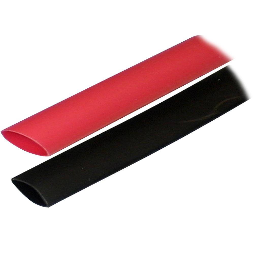 "Ancor Adhesive Lined Heat Shrink Tubing (ALT) - 3/4"" x 3"" - 2-Pack - Black/Red [306602] - Bulluna.com"