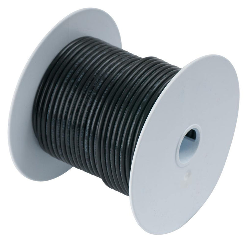 Ancor Black 18 AWG Tinned Copper WIre - 35' [180003] - Bulluna.com