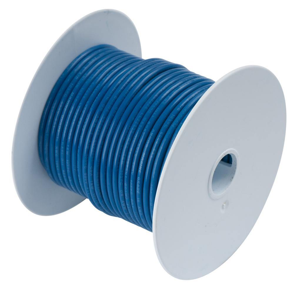 Ancor Dark Blue 18 AWG Tinned Copper Wire - 35' [180103] - Bulluna.com