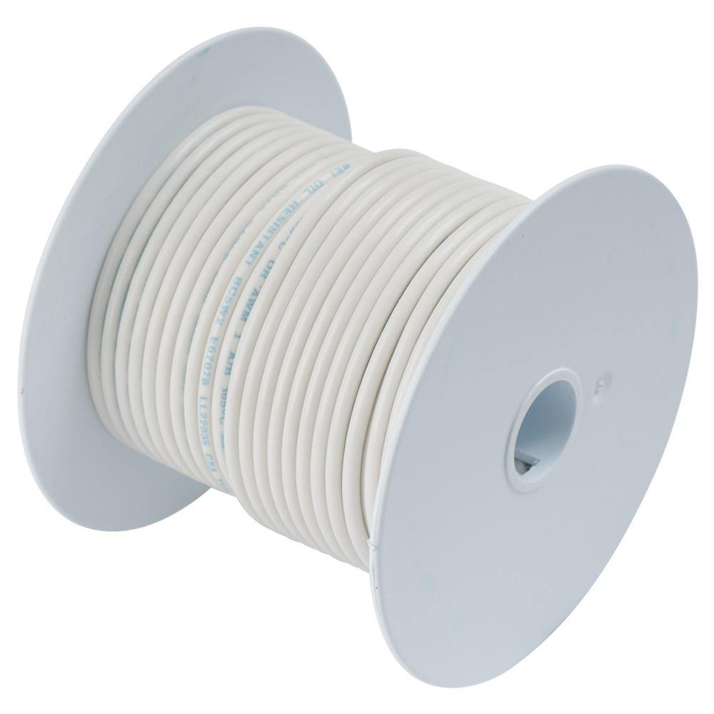 Ancor White 18 AWG Tinned Copper Wire - 100' [100910] - Bulluna.com