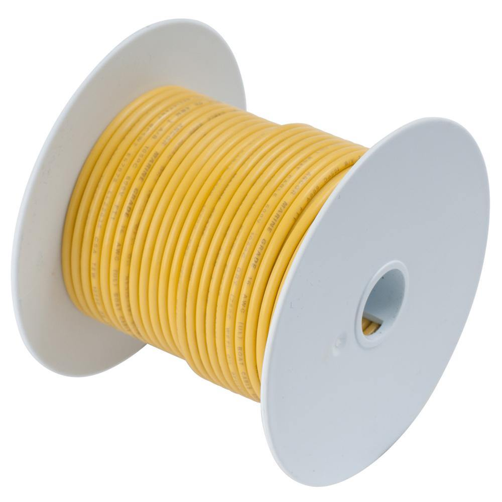 Ancor Yellow 18 AWG Tinned Copper Wire - 100' [101010] - Bulluna.com