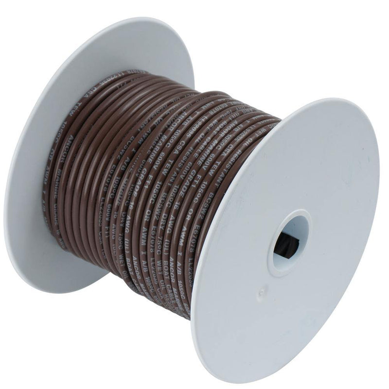 Ancor Brown 16 AWG Tinned Copper Wire - 100' [102210] - Bulluna.com