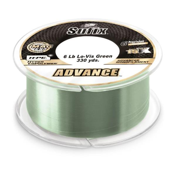 Sufix Advance Monofilament Line - 6 Pounds 330 Yards - Lo-Vis Green