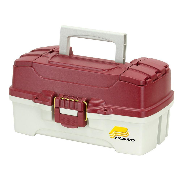Plano 1-Tray Tackle Box With Dual Top Access - Red Metallic/Off White