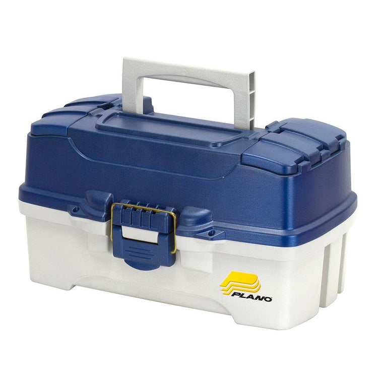 Plano 2-Tray Tackle Box With Dual Top Access - Blue Metallic/Off White