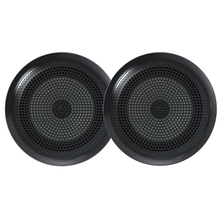 Fusion EL-F651B EL Series Full Range Shallow Mount Marine Black Speakers - 6.5 Inch With LED Lights