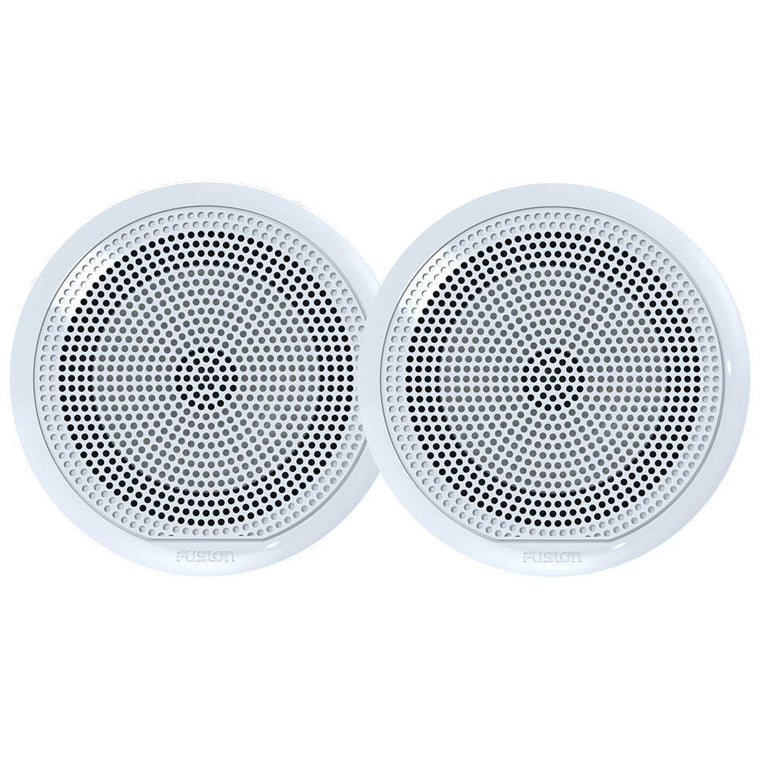 Fusion EL-F651W EL Series Full Range Shallow Mount Marine White Speakers - 6.5 Inch With LED Lights