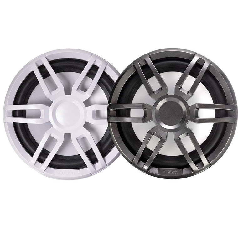 Fusion XS-SL10SPGW XS Series 10 Inch 600 Watt Sports Marine Subwoofer - Sports White And Grey Grill Options