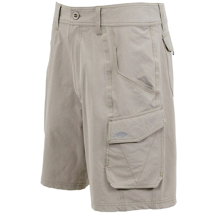 Aftco Stealth Khaki Fishing Shorts