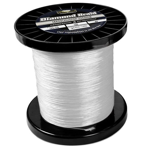 Momoi Diamond Gen 3 Braided Line - 130 Pounds 1500 Yards - Hollow Core - White