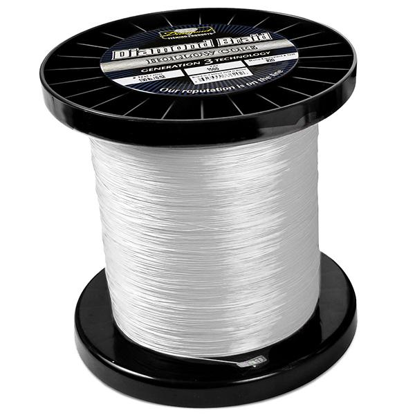Momoi Diamond Gen 3 Braided Line - 150 Pounds 1500 Yards - Hollow Core - White