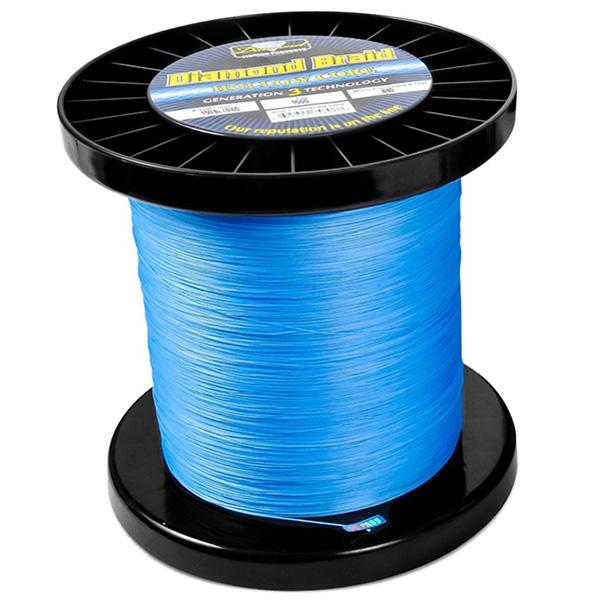 Momoi Diamond Gen 3 Braided Line - 150 Pounds 1500 Yards - Hollow Core - Blue