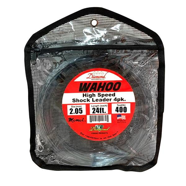 Momoi Wahoo High Speed Shock Leader 4PK - 400 Pounds - Smoke Blue (HN) - Bulluna.com