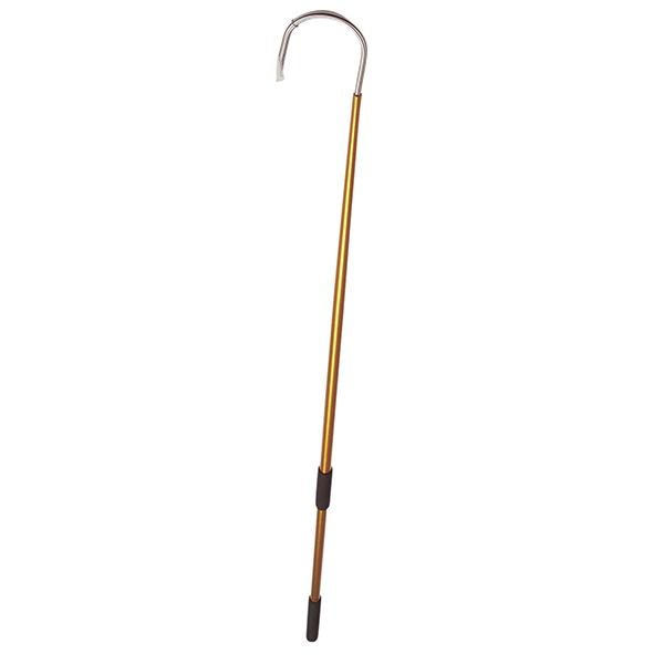 Aftco 4 Feet Gold Aluminum Fishing Gaff - 2 Inch Hook