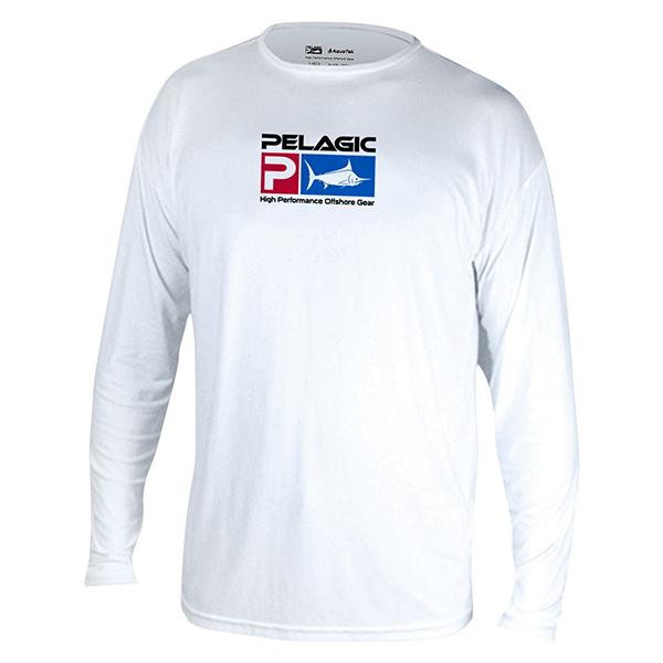 Pelagic Aquatek White Long Sleeve Sun Shirt