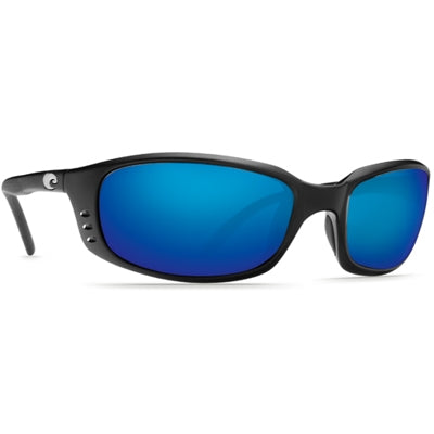 Costa Del Mar Brine Sunglasses - Matte Black Frame - Blue Mirror - Bulluna.com