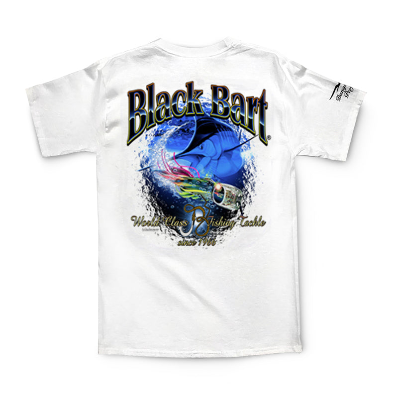 Black Bart Marlin Lure Short Sleeve T-Shirt - Bulluna.com