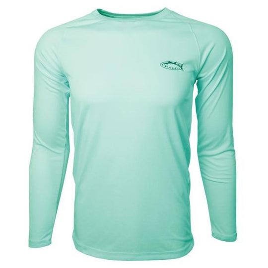 Bluefin USA Basic Aqua Long Sleeve Rashguard Sun Shirt