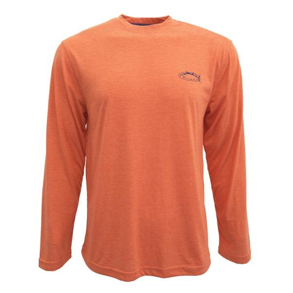 Bluefin USA Basic Orange Long Sleeve Tech Sun Shirt - Bulluna.com
