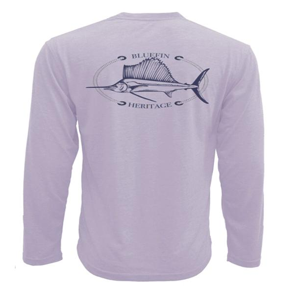 Bluefin USA Heritage Lilac Long Sleeve Tech Sun Shirt