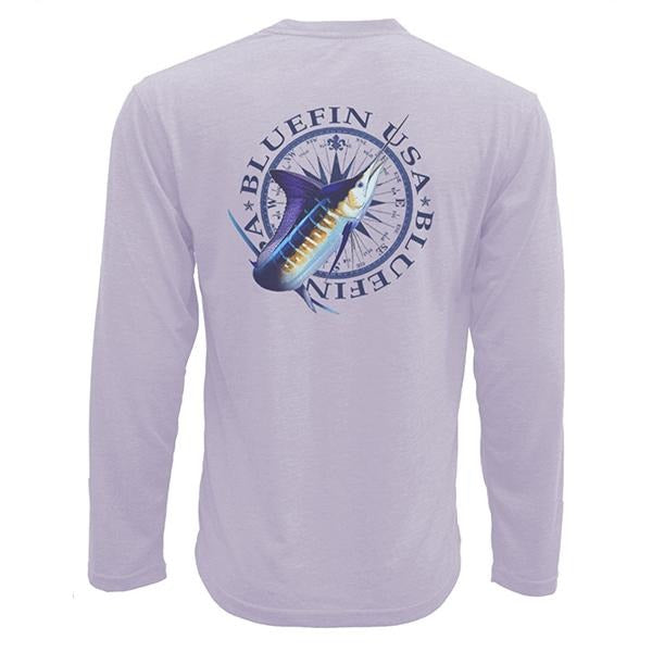 Bluefin USA Vintage Compass Lilac Tech Tee