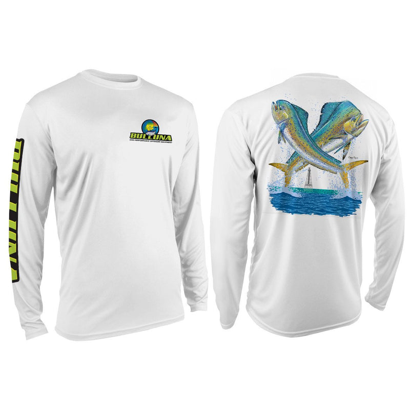 Bulluna Carey Chen Double Mahi Mahi Long Sleeve Sun Shirt - Youth - Bulluna.com