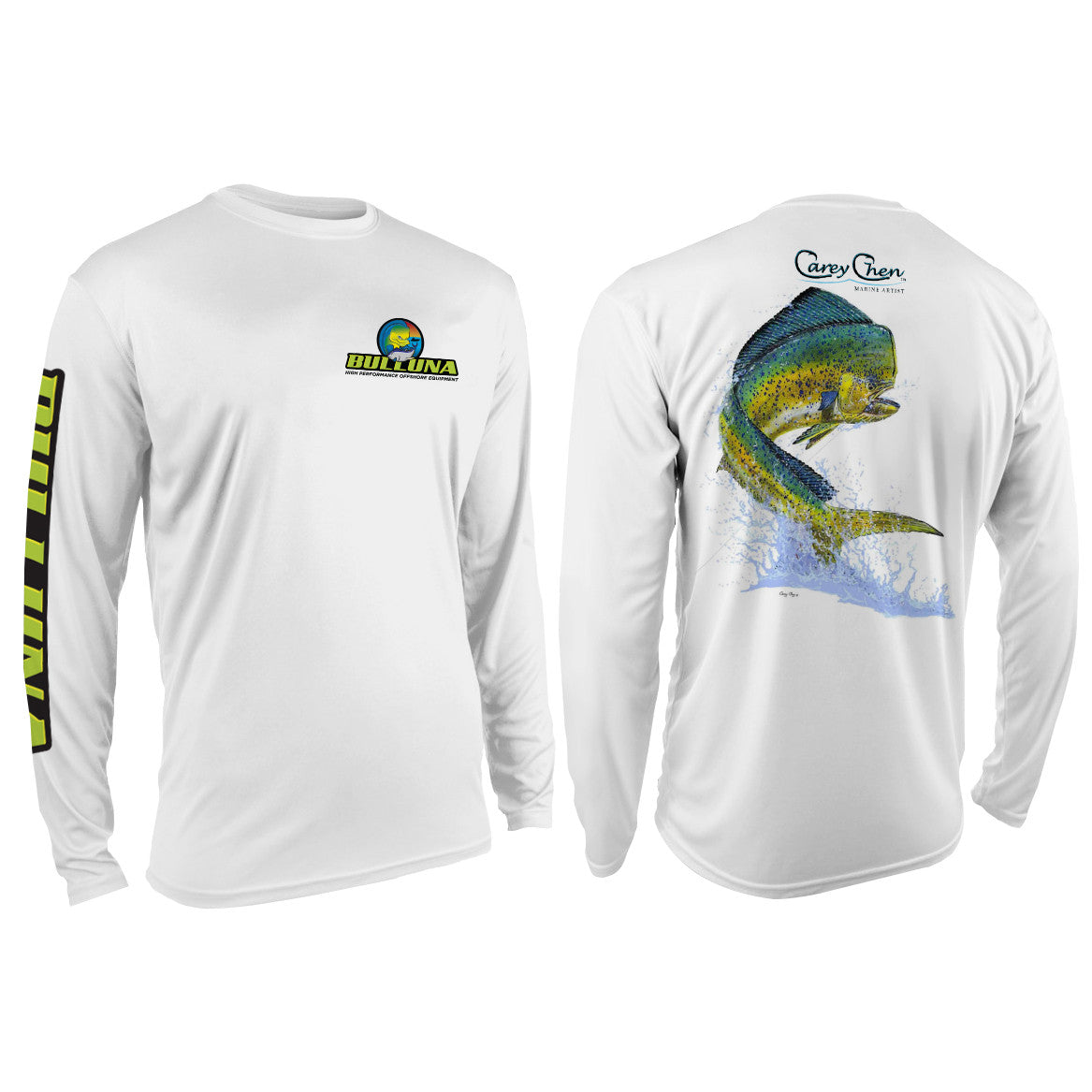 Bulluna Carey Chen Mahi Mahi Long Sleeve Sun Shirt - Youth - Bulluna.com